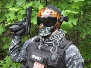 Casque de paintball Cam